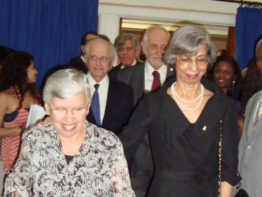 Dora e os ex-reitores Eliane Azevedo, Germano Tabacoff, Roberto Santos